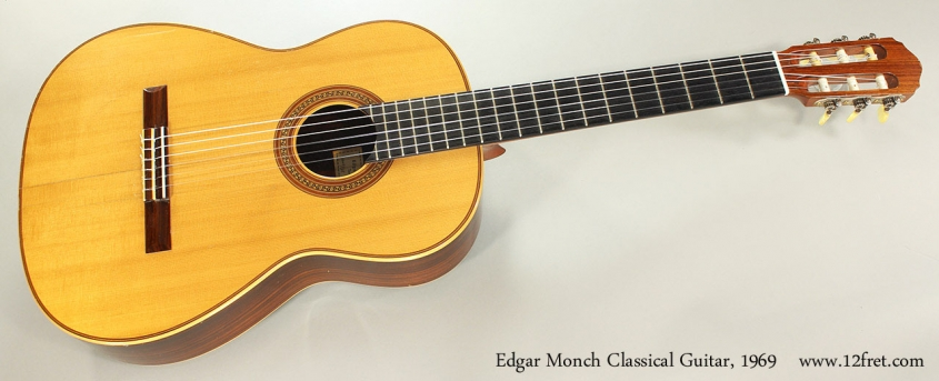 Edgar Monch Classical Guitar, 1969 Full Front View