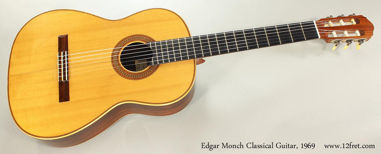 Edgar Monch Classical Guitar, 1969 Full Front View