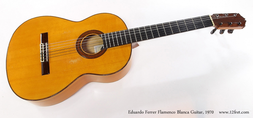 Eduardo Ferrer Flamenco Blanca Guitar, 1970 Full Front View