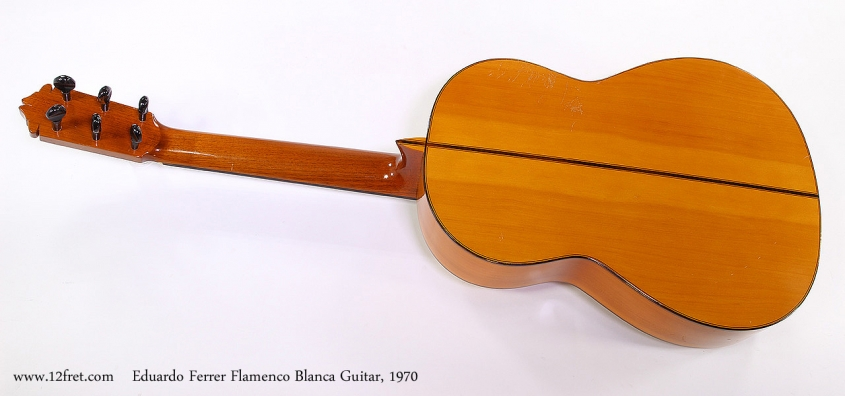 Eduardo Ferrer Flamenco Blanca Guitar, 1970 Full Rear View