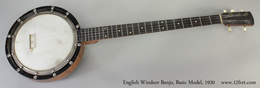 English Windsor Banjo, Basic Model, 1920 Full Front View