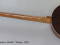 English Windsor Model 7 Banjo, 1925 Full Rear View