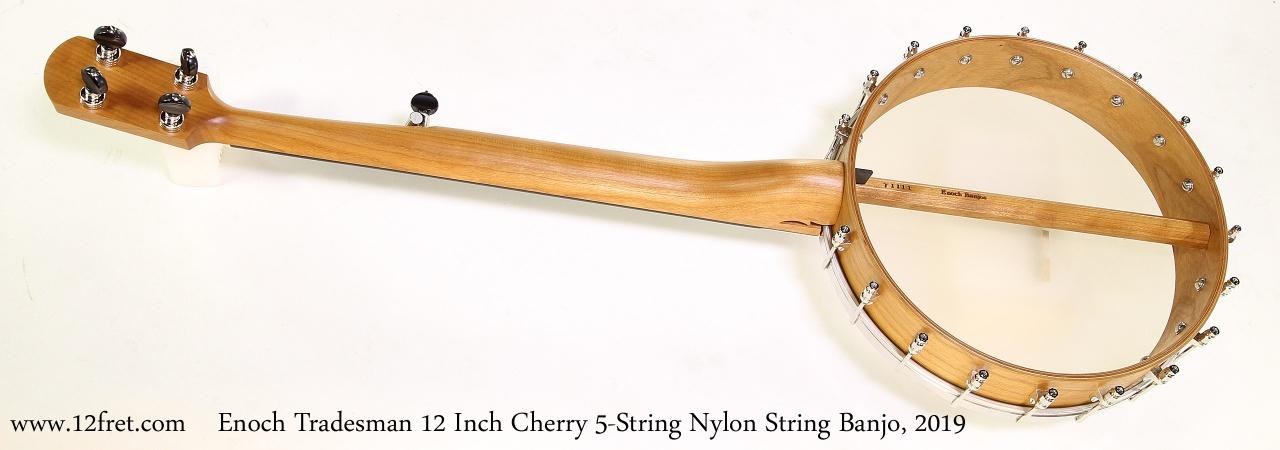 Enoch Tradesman 12 Inch Cherry 5-String Nylon String Banjo, 2019 Full Rear VIew