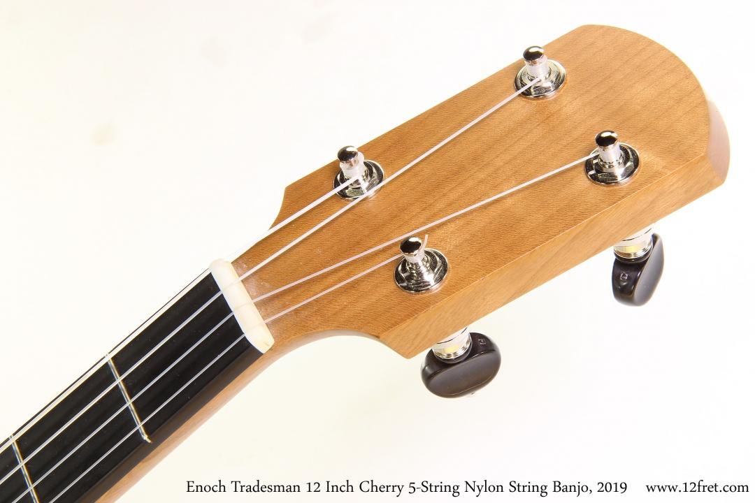 Enoch Tradesman 12 Inch Cherry 5-String Nylon String Banjo, 2019 Head Front View