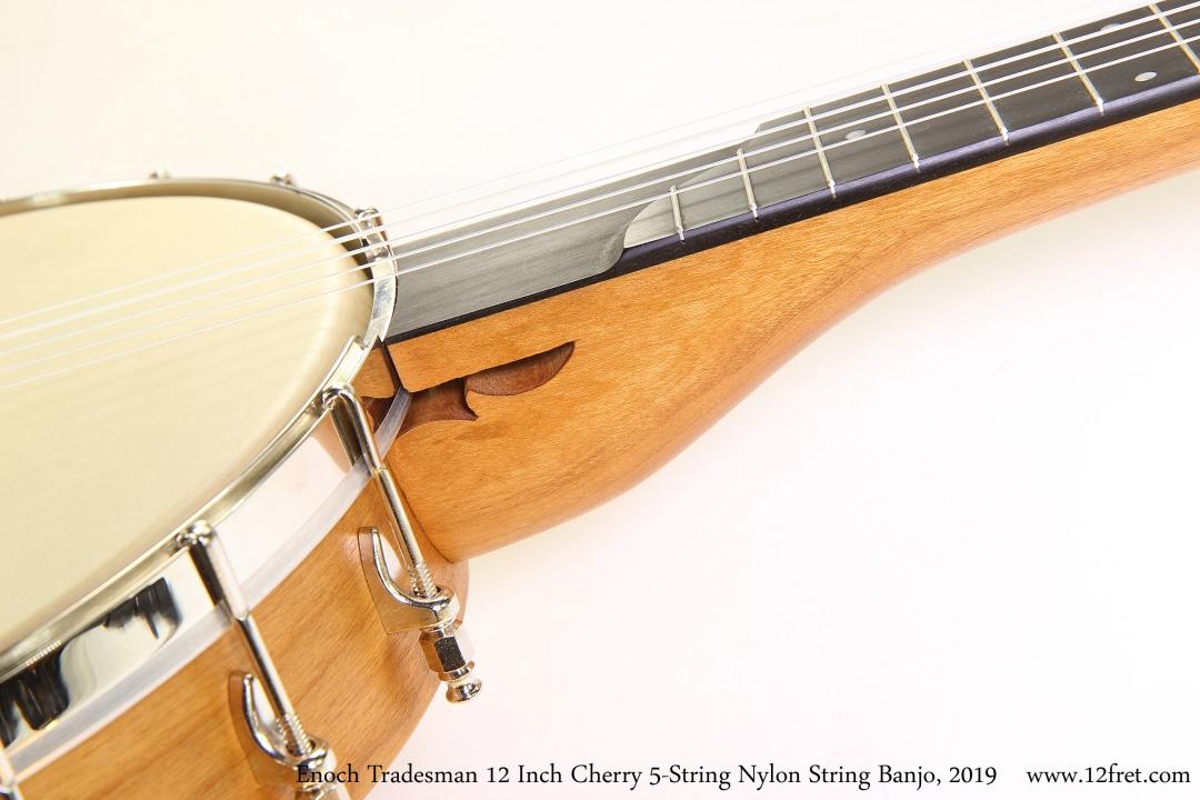 Enoch Tradesman 12 Inch Cherry 5-String Nylon String Banjo, 2019 Heel View