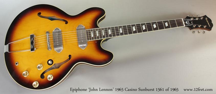 Epiphone 'John Lennon' 1965 Casino Sunburst 1561 of 1965 Full Front View
