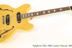 Epiphone Elite 1965 Casino Natural, 2003 Full Front View