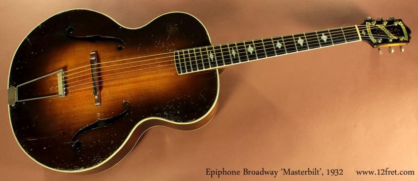 Epiphone Broadway Masterbilt, 1932 full front