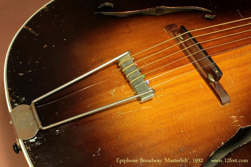 Epiphone Broadway Masterbilt, 1932 bridge