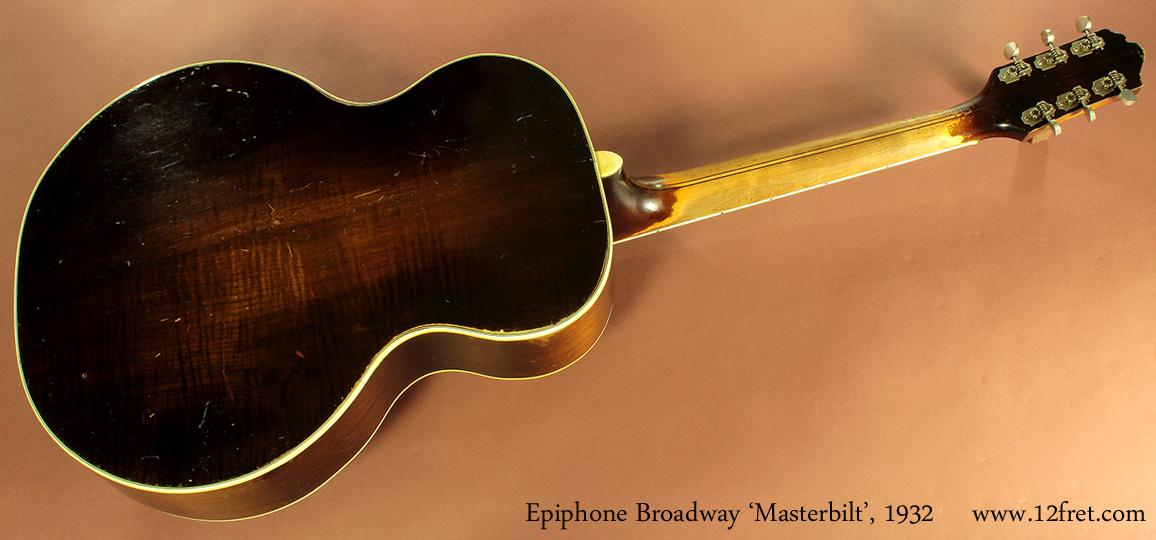 Epiphone Broadway Masterbilt, 1932 full rear