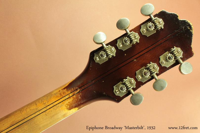 Epiphone Broadway Masterbilt, 1932 head rear