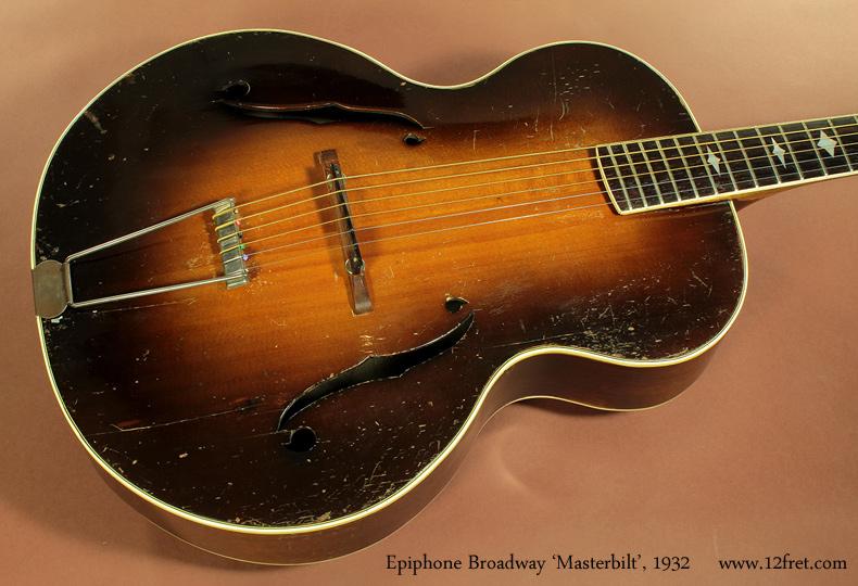 Epiphone Broadway Masterbilt, 1932 top