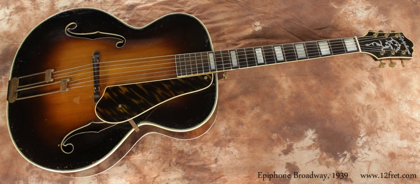 Epiphone Broadway Archtop 1939 full front view