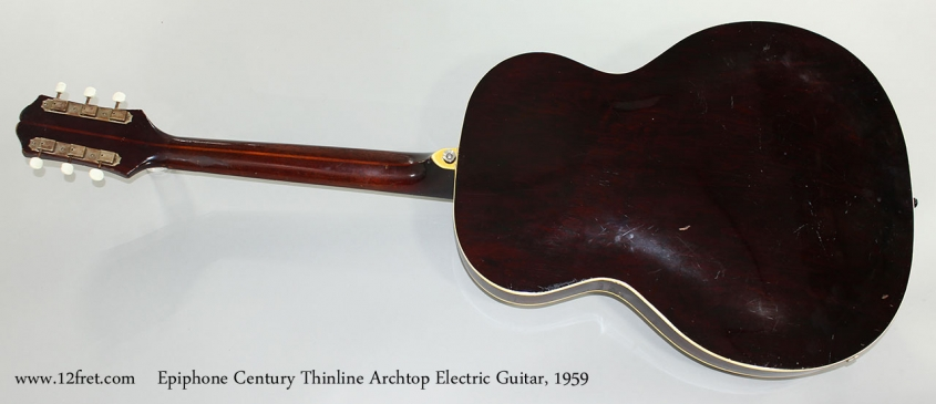 Epiphone Century Thinline Archtop Electric Guitar, 1959 Full Rear View
