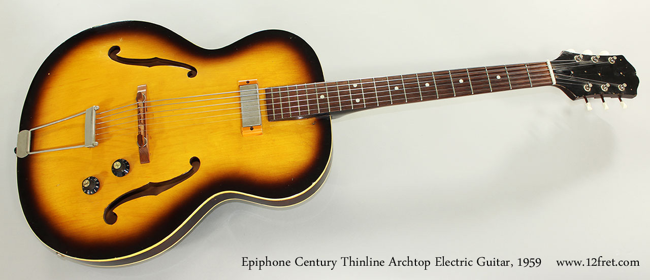 Epiphone Century Thinline Archtop Electric Guitar, 1959 Full Front View