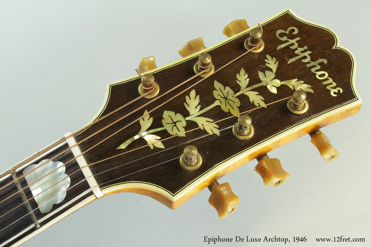 Epiphone DeLuxe Archtop, 1946 Head Front View
