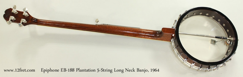 Epiphone EB-188 Plantation 5-String Long Neck Banjo, 1964 Full Rear View