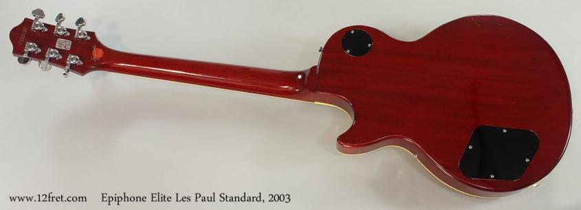 Epiphone Elite Les Paul Standard, 2003 Full Rear View