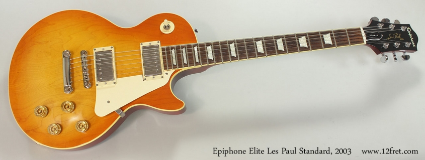 Epiphone Elite Les Paul Standard, 2003 Full Front View