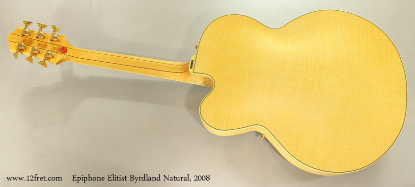 Epiphone Elitist Byrdland Natural, 2008 Full Rear View