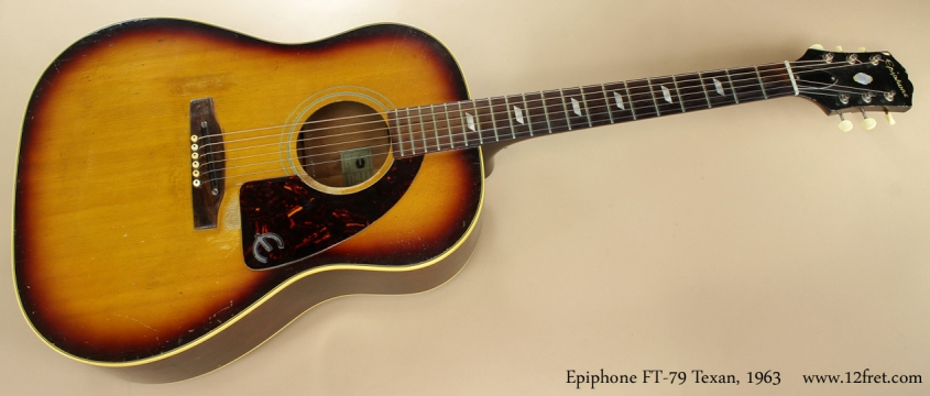 Epiphone Texan FT-79 1963 full front view