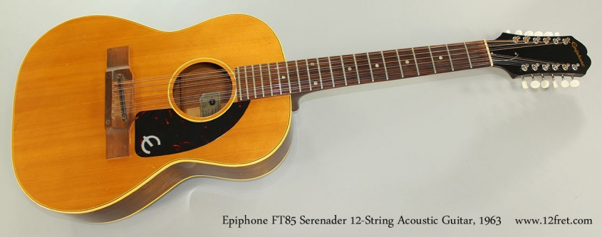 Epiphone FT85 Serenader 12-String Acoustic Guitar, 1965 Full Front View