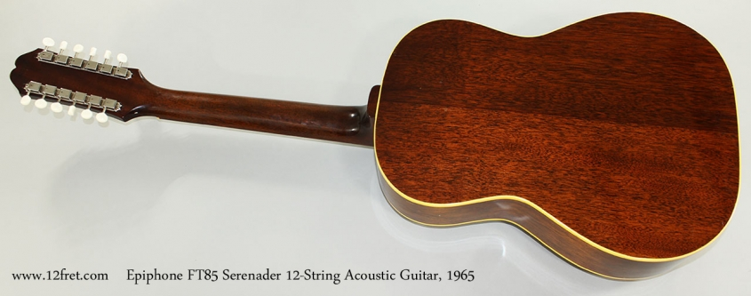Epiphone FT85 Serenader 12-String Acoustic Guitar, 1965 Full Rear View
