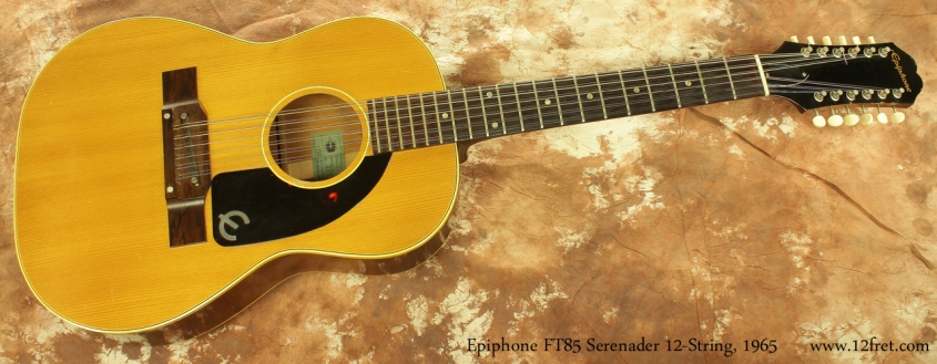 Epiphone F585 Serenader 12-String 1965 full front view