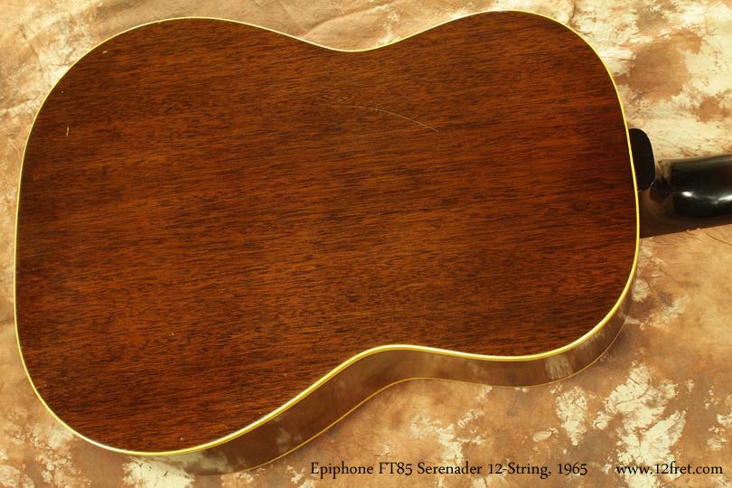 Epiphone F585 Serenader 12-String 1965 back