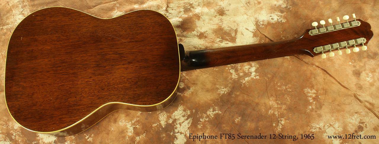 Epiphone F585 Serenader 12-String 1965 full rear view