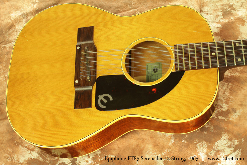 Epiphone F585 Serenader 12-String 1965 top