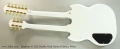 Epiphone G-1275 Double Neck Limited Edition, White Full Rear View