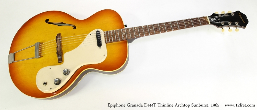 Epiphone Granada E444T Thinline Archtop Sunburst, 1965  Full Front View