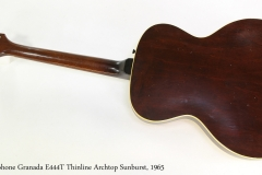 Epiphone Granada E444T Thinline Archtop Sunburst, 1965   Full Rear View