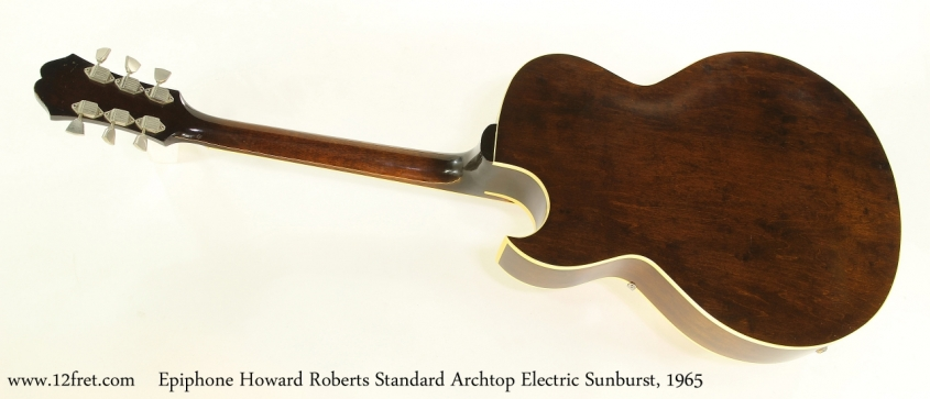 Epiphone Howard Roberts Standard Archtop Electric Sunburst, 1965   Full Rear View