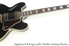 Epiphone B B King Lucille Thinline Archtop Electric, 2015 Full Front View
