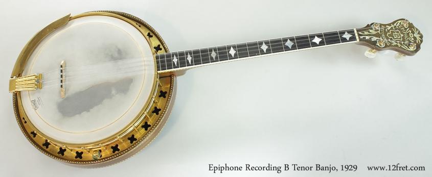Epiphone Recording B Tenor Banjo, 1929 Full Front View