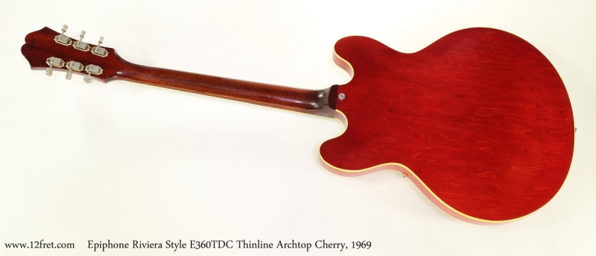 Epiphone Riviera Style E360TDC Thinline Archtop Cherry, 1969   Full Rear View