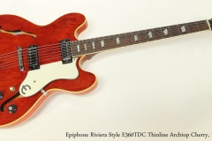 Epiphone Riviera Style E360TDC Thinline Archtop Cherry, 1969   Full Front View