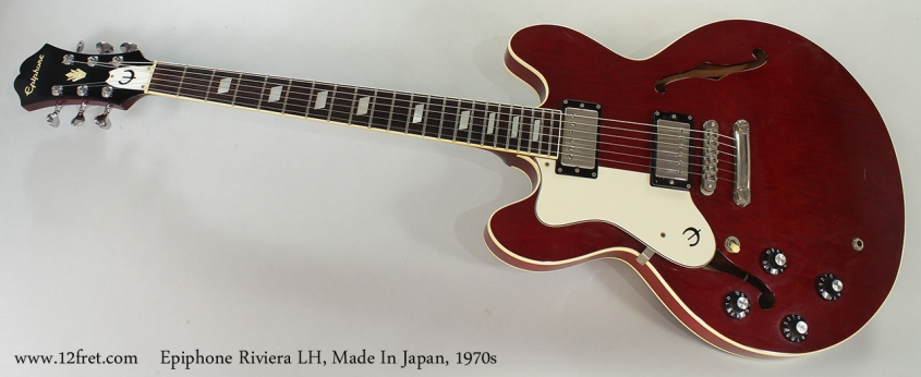 Epiphone Riviera LH, Made In Japan, 1970s Full Front View