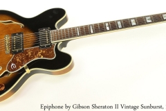 Epiphone by Gibson Sheraton II Vintage Sunburst, 1988 Full Front View