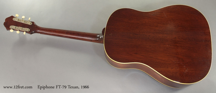 Epiphone FT-79 Texan 1966 full rear view