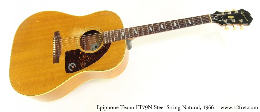 Epiphone Texan FT79N Steel String Natural, 1966 Full Front View