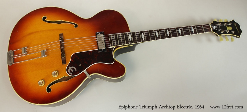 Epiphone Triumph Archtop Electric, 1964 Full Front View