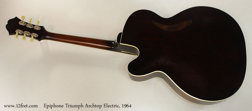 Epiphone Triumph Archtop Electric, 1964 Full Rear View