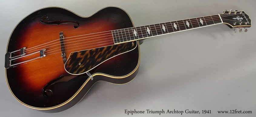 Epiphone Triumph Archtop Guitar, 1941 Full Front View