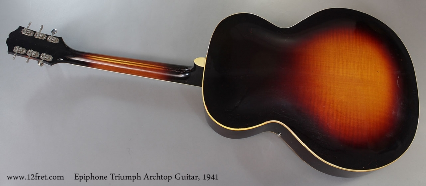 Epiphone Triumph Archtop Guitar, 1941 Full Rear View