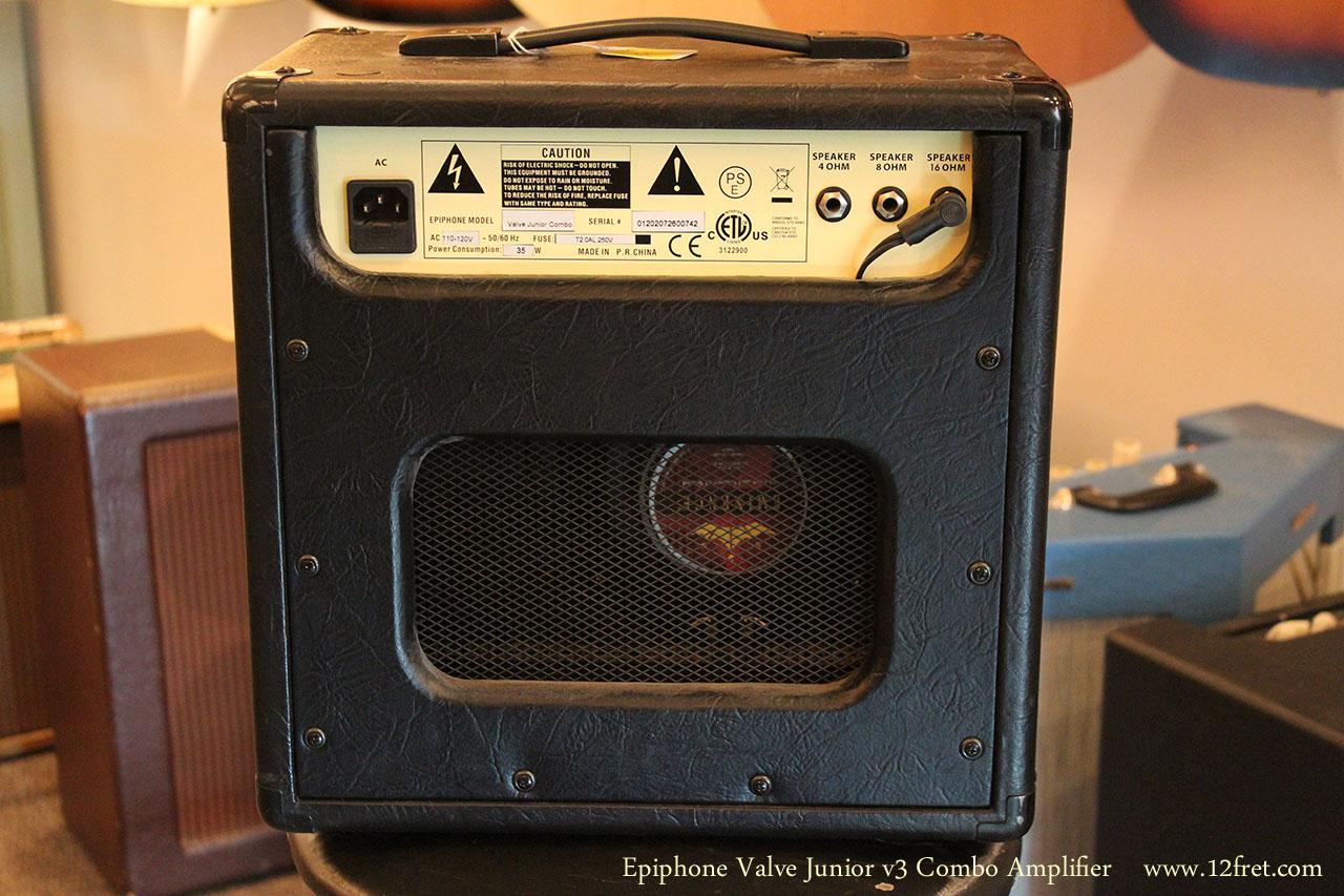 Epiphone Valve Junior v3 Combo Amplifier Full Rear View