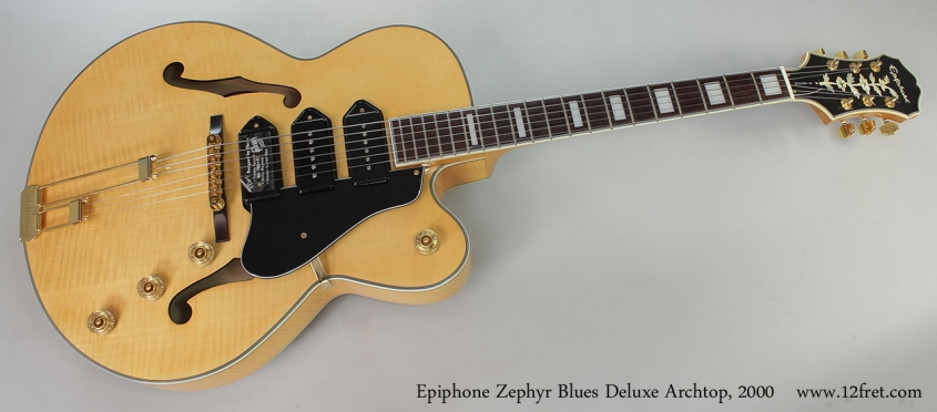 Epiphone Zephyr Blues Deluxe Archtop, 2000 Full Front View