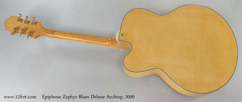 Epiphone Zephyr Blues Deluxe Archtop, 2000 Full Rear View